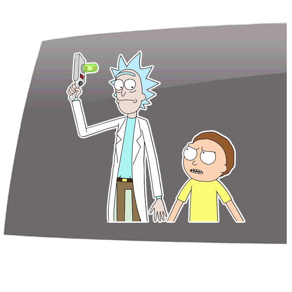 Rick and Morty Vinyl Decal Sticker      20 Colors Available